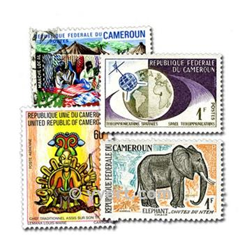 CAMEROON: envelope of 100 stamps