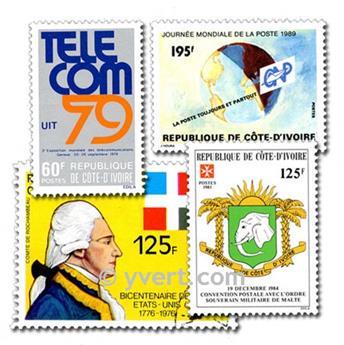 COSTA DE MARFIL: lote de 50 sellos