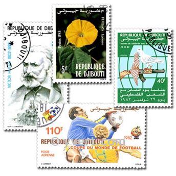 DJIBOUTI : pochette de 200 timbres