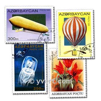 AZERBAIYÁN: lote de 50 sellos