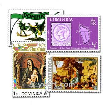 DOMÍNICA: lote de 50 selos
