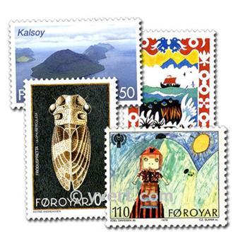 FAROÉ: lote de 25 selos