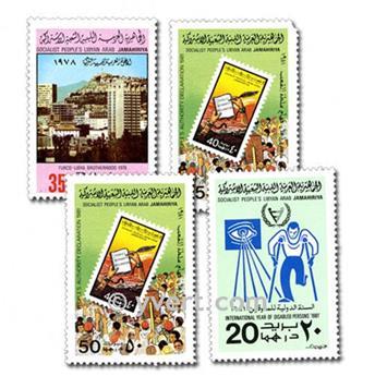 LIBYE : pochette de 50 timbres