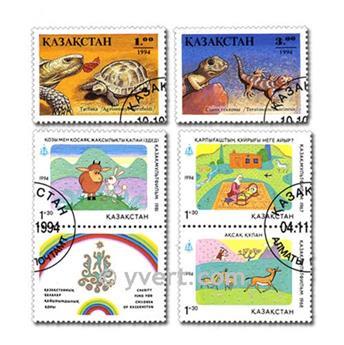 KAZAJISTÁN: lote de 15 sellos
