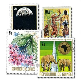 GUINEA: envelope of 500 stamps