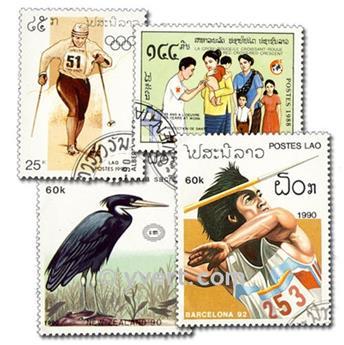 LAOS : pochette de 300 timbres