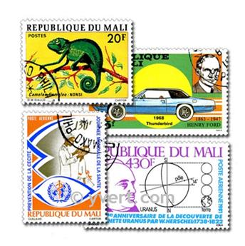 MALI: envelope of 200 stamps