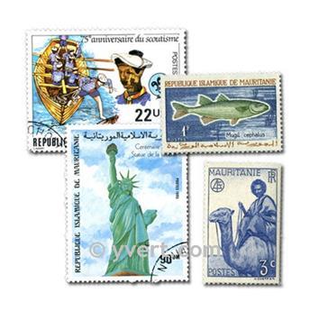 MAURITÂNIA: lote de 100 selos