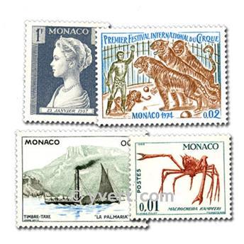 MÓNACO: lote de 200 sellos