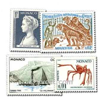 MONACO: envelope of 200 stamps