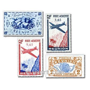 REUNIÓN COLONIAS FRANCESAS DE ÁFRICA: lote de 50 sellos