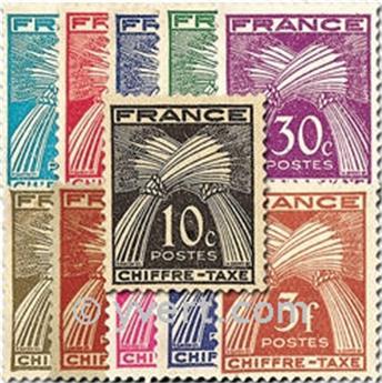 n.o 67 / 77 -  Sello Francia Tasa