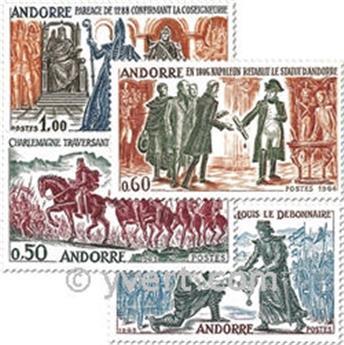 n.o 167 / 170 -  Sello Andorra Correos