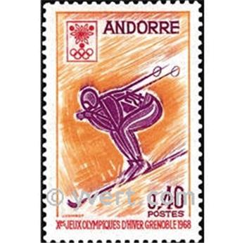n° 187 -  Timbre Andorre Poste