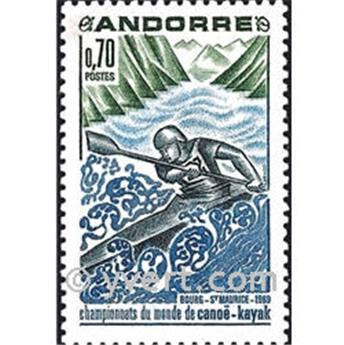 n° 196 -  Timbre Andorre Poste