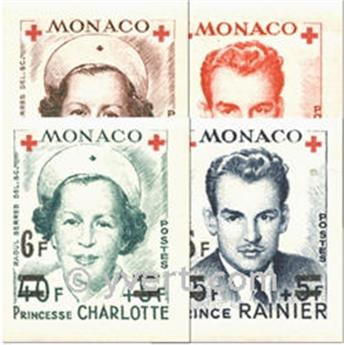 n° 379B/382B -  Timbre Monaco Poste