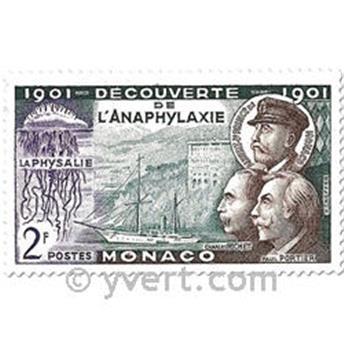 n° 394/396 -  Selo Mónaco Correios