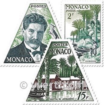 n° 412/414 -  Selo Mónaco Correios