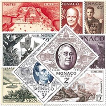 n° 444/452 -  Selo Mónaco Correios