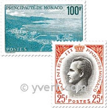 n° 503/509 -  Selo Mónaco Correios