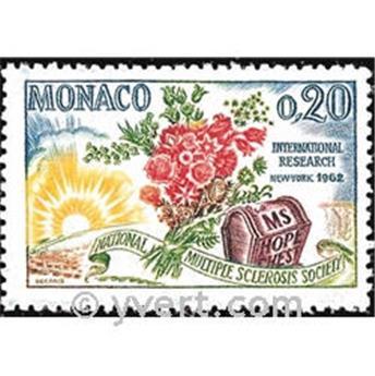 n.o 580 -  Sello Mónaco Correos