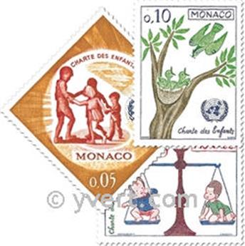 n° 599/606 -  Selo Mónaco Correios