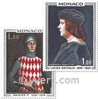 n° 734/735 -  Timbre Monaco Poste