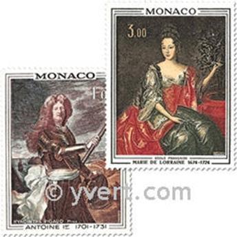 n° 874/875 -  Selo Mónaco Correios