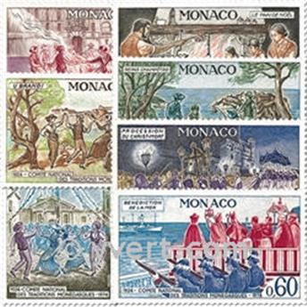 n.o 939/945 -  Sello Mónaco Correos