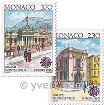 n.o 1724/1725 -  Sello Mónaco Correos
