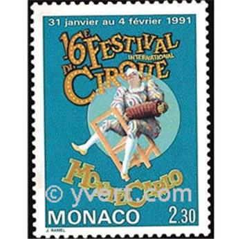 n° 1753 -  Selo Mónaco Correios
