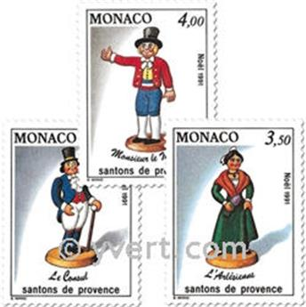 n.o 1794/1796 -  Sello Mónaco Correos