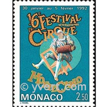 n° 1810 -  Selo Mónaco Correios