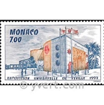 n.o 1828 -  Sello Mónaco Correos