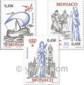 n° 2410/2413 -  Selo Mónaco Correios
