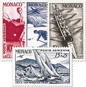 n° 32/35 -  Selo Mónaco Correio aéreo