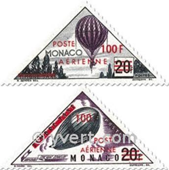 n° 61/62 -  Selo Mónaco Correio aéreo