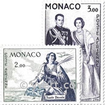 n.o 73 / 78 -  Sello Mónaco Correo aéreo