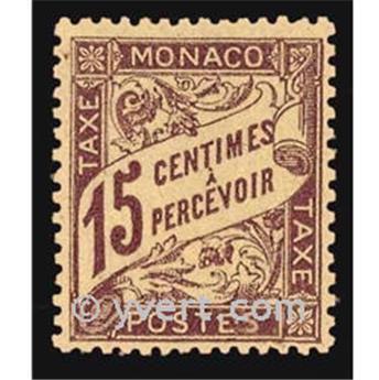 n° 5 -  Selo Mónaco Taxa