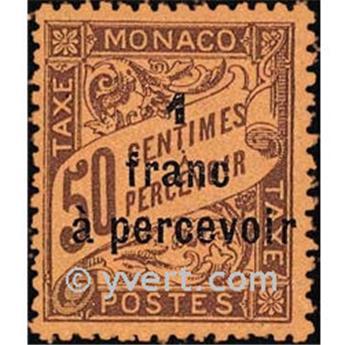 n° 17 -  Selo Mónaco Taxa