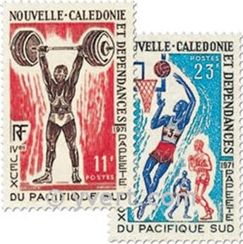 n.o 375/376 -  Sello Nueva Caledonia Correos