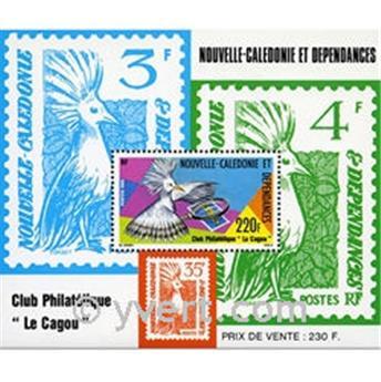 n° 7 -  Selo Nova Caledónia Blocos e folhinhas