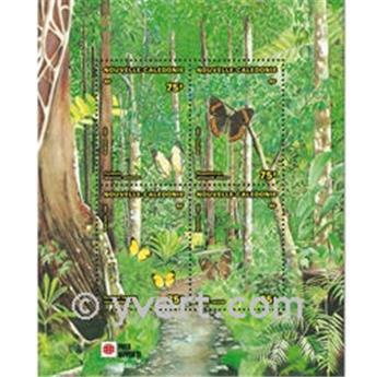 n.o 11 -  Sello Nueva Caledonia Bloque y hojitas