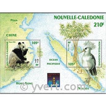 n° 16 -  Selo Nova Caledónia Blocos e folhinhas