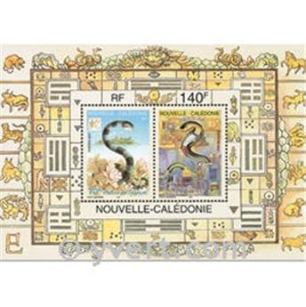 n.o 25 -  Sello Nueva Caledonia Bloque y hojitas