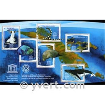 n° 39 -  Selo Nova Caledónia Blocos e folhinhas