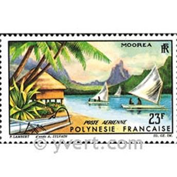 n° 9 -  Timbre Polynésie Poste aérienne