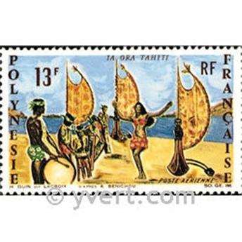 n° 21 -  Selo Polinésia Correio aéreo
