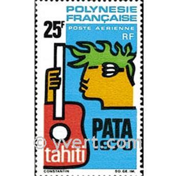 n.o 28 -  Sello Polinesia Correo aéreo