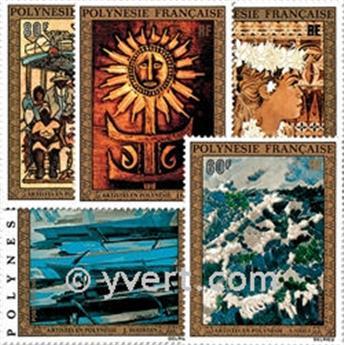 n° 77/81 -  Timbre Polynésie Poste aérienne